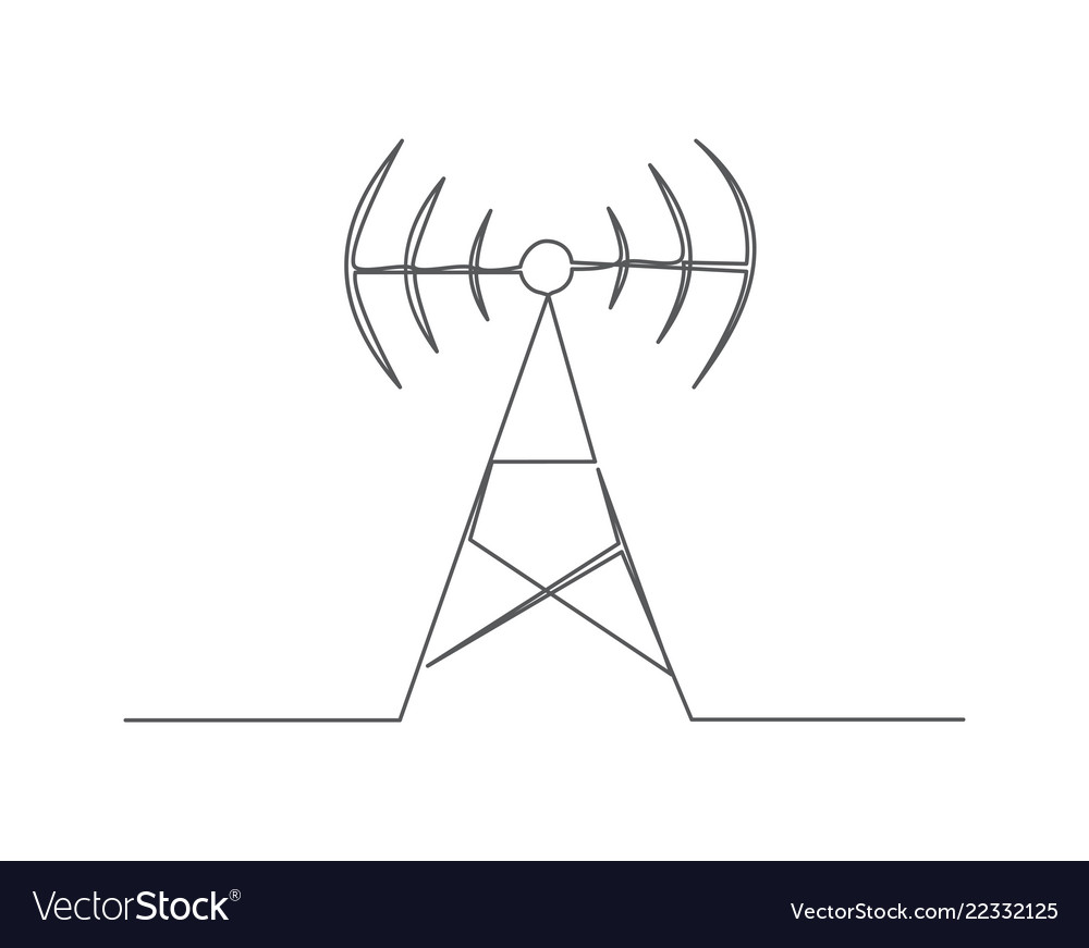 Antenna one line drawing