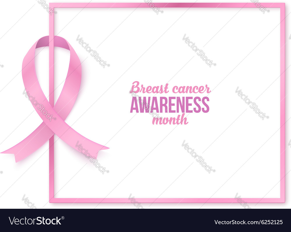 44eccd03eca Breast cancer awareness month white card template