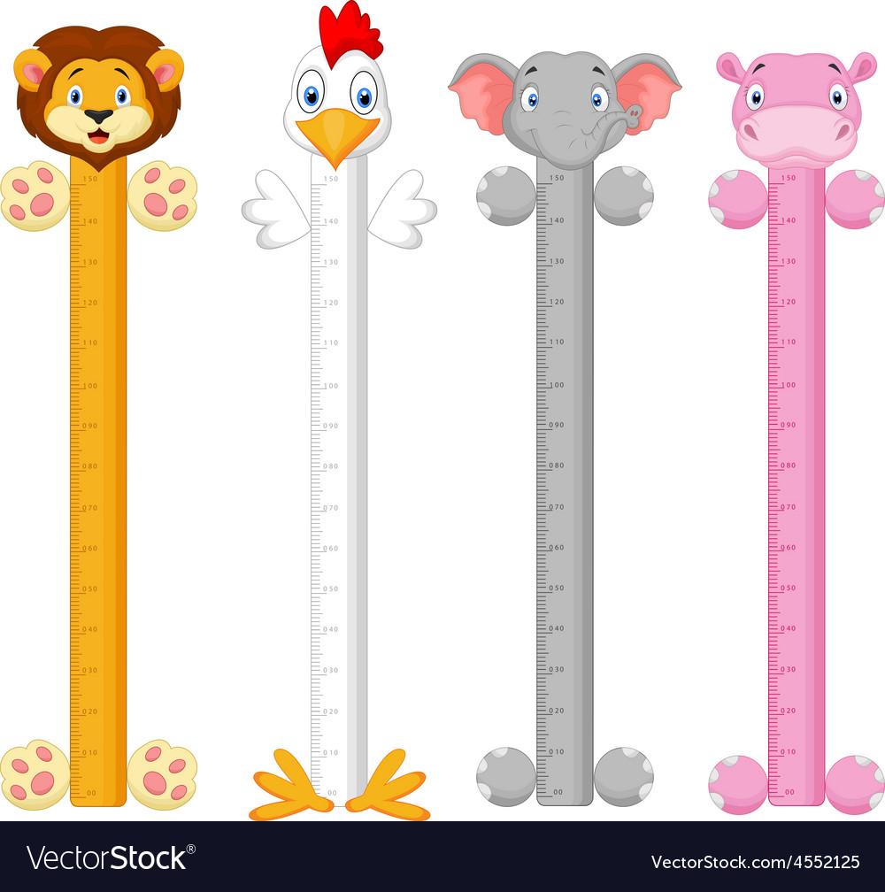 Cartoon animal wall meter