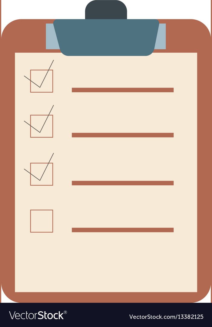 Checklist flat design icon