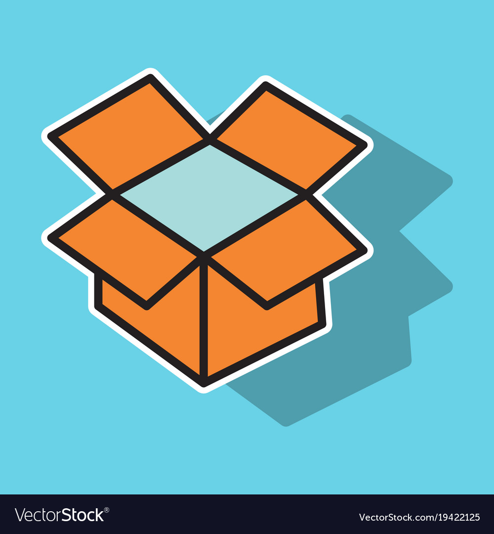 Dropbox color icon realistic icon or logo sticker