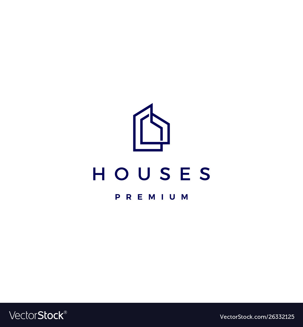 House home architect mortgage facade logo icon