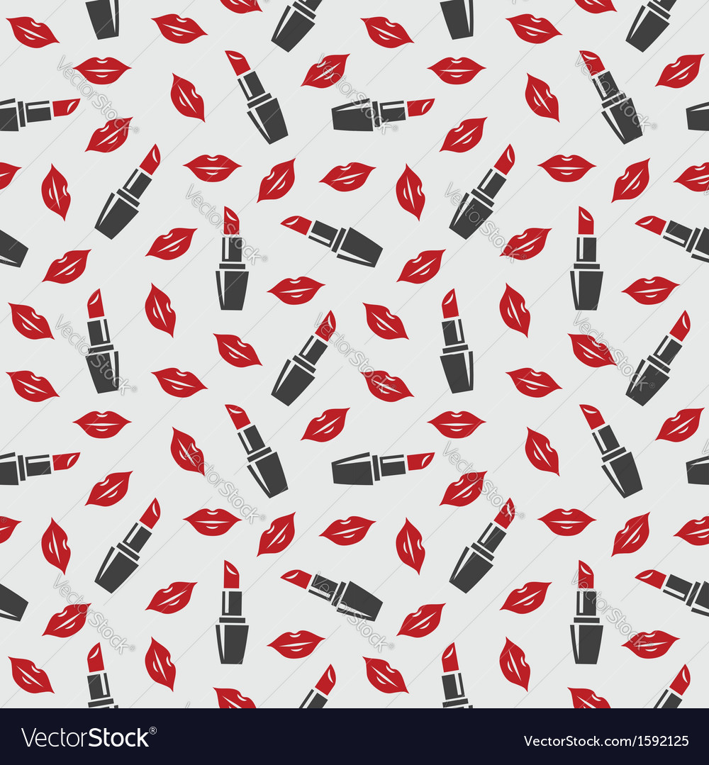 Lips and lipstick vector image