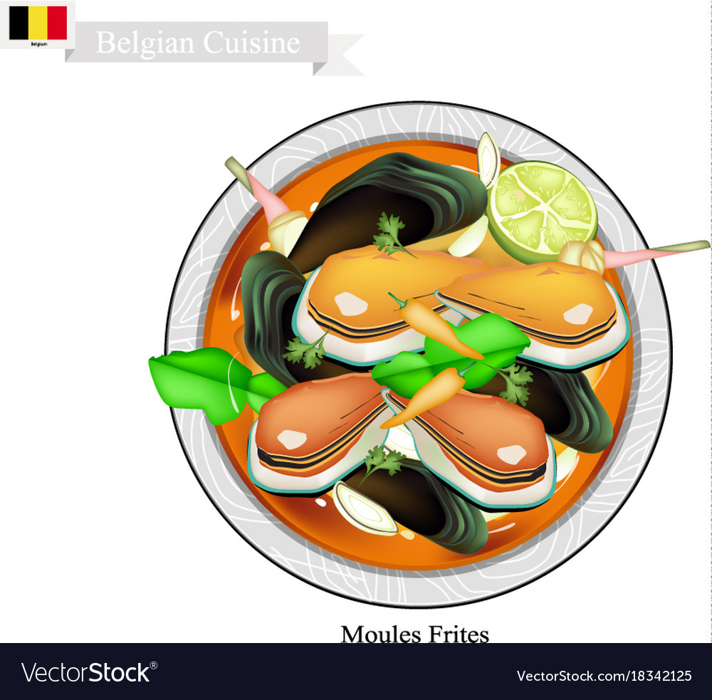 Tom yum or thai spicy and sour soup with mussels