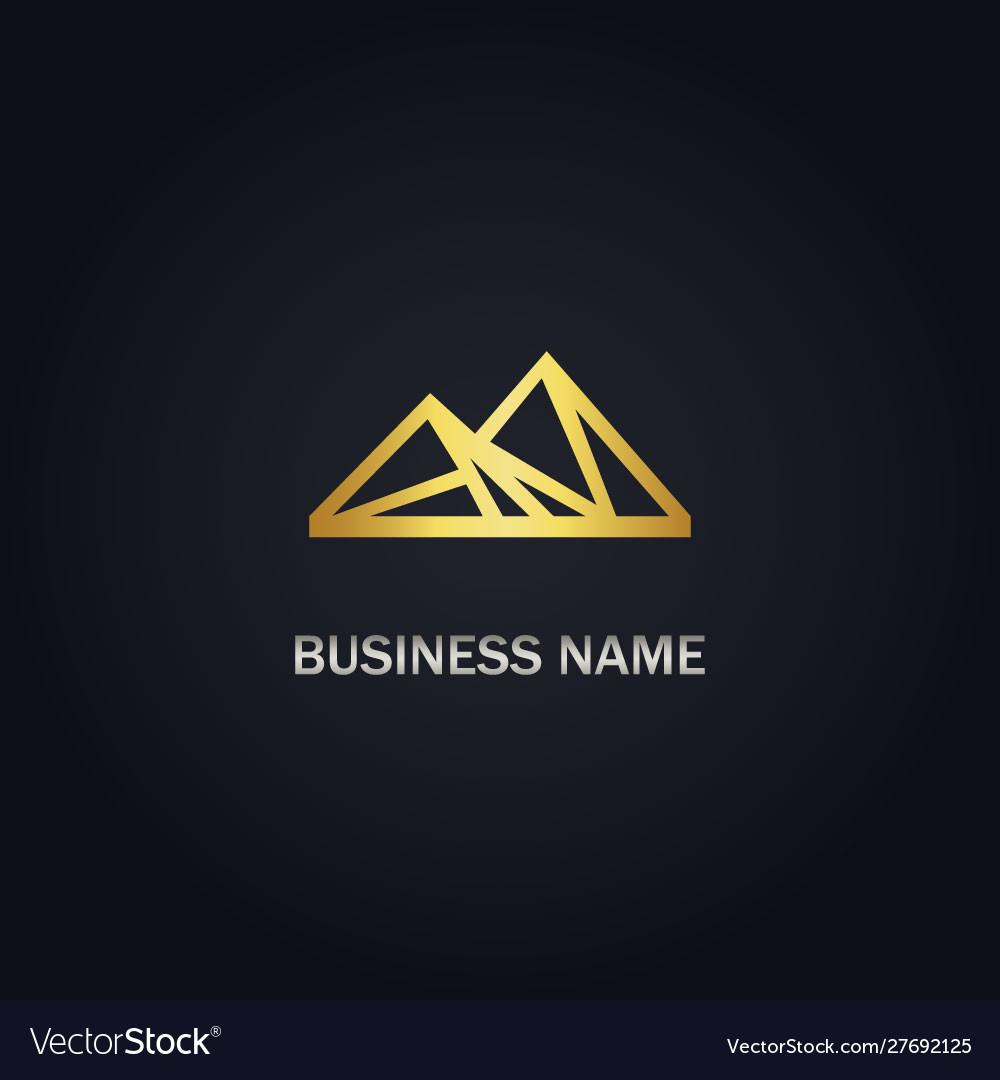 Triangle mountain gold logo