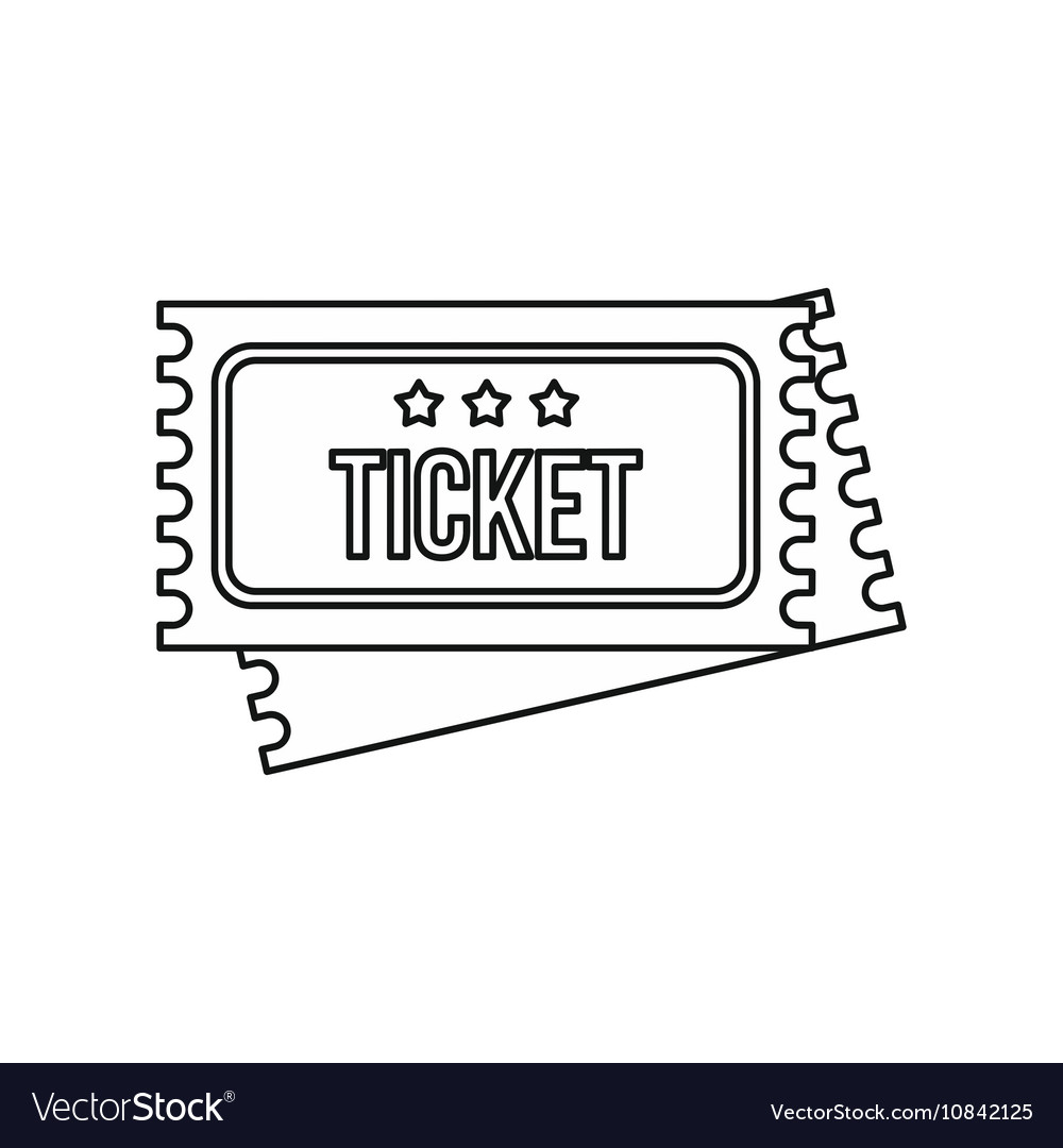 Vintage circus tickets icon outline style