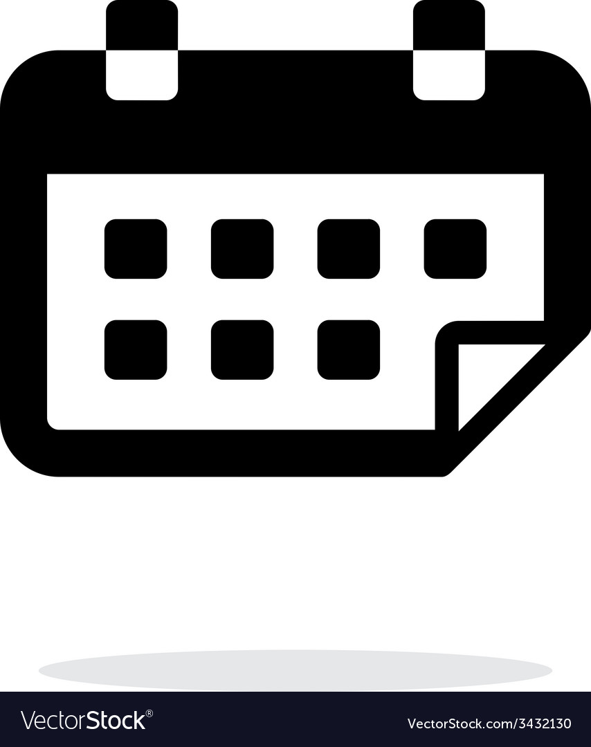 Calendar flipped simple icon on white background vector image