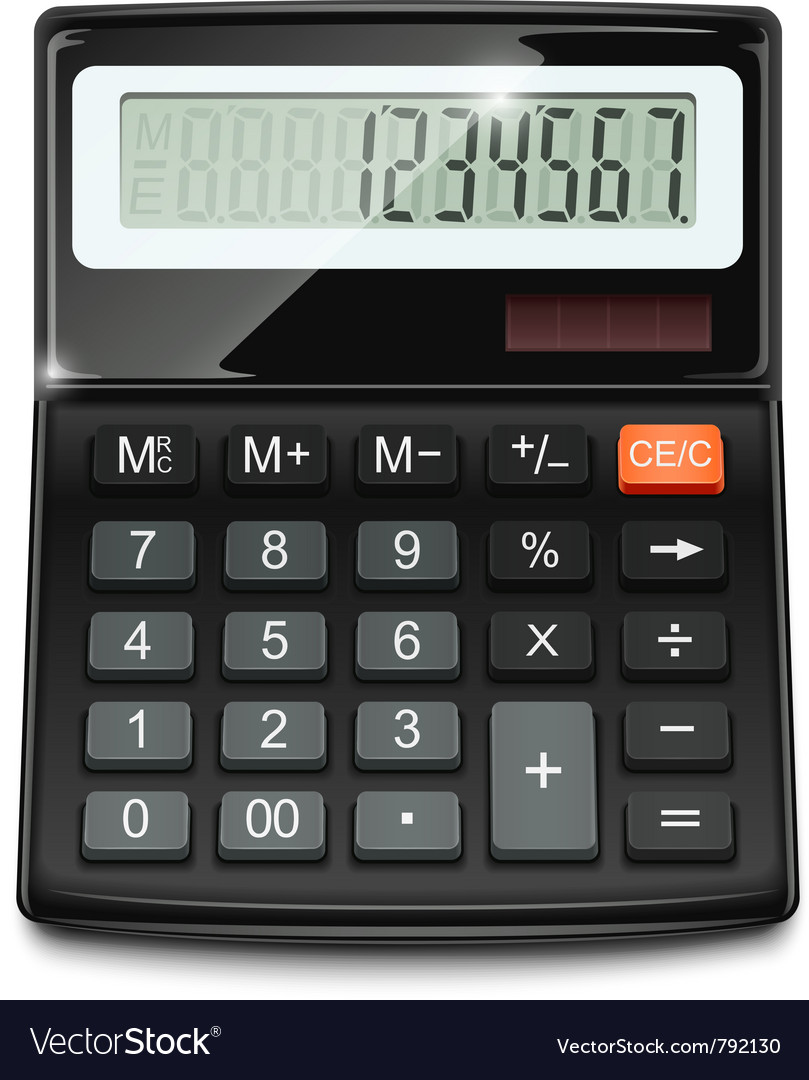 electronic calculator royalty free vector image