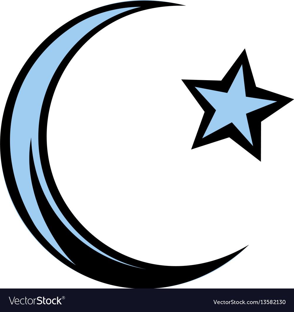 Muslim Symbol Icon Cartoon Royalty Free Vector Image