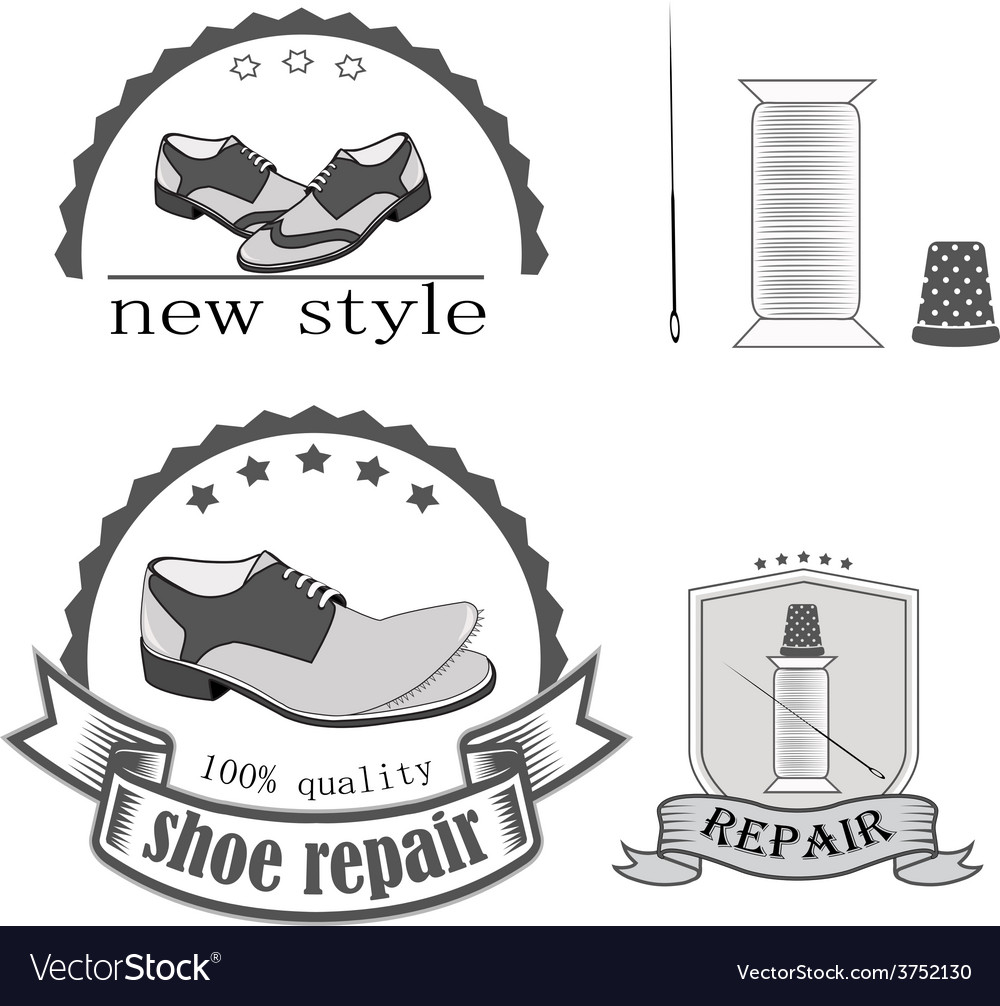 Shoe repair vector image