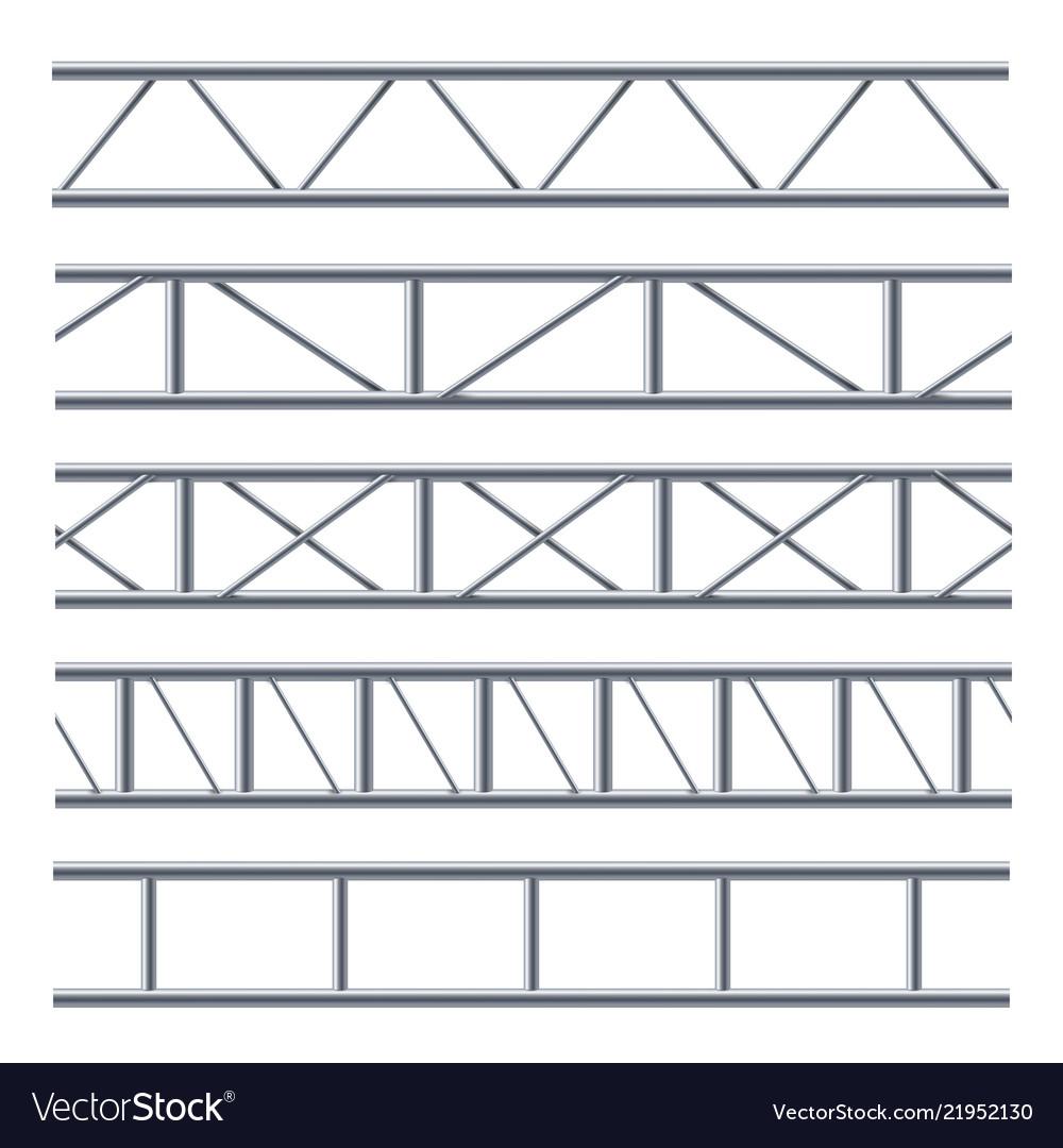 Steel truss girder seamless pattern on white