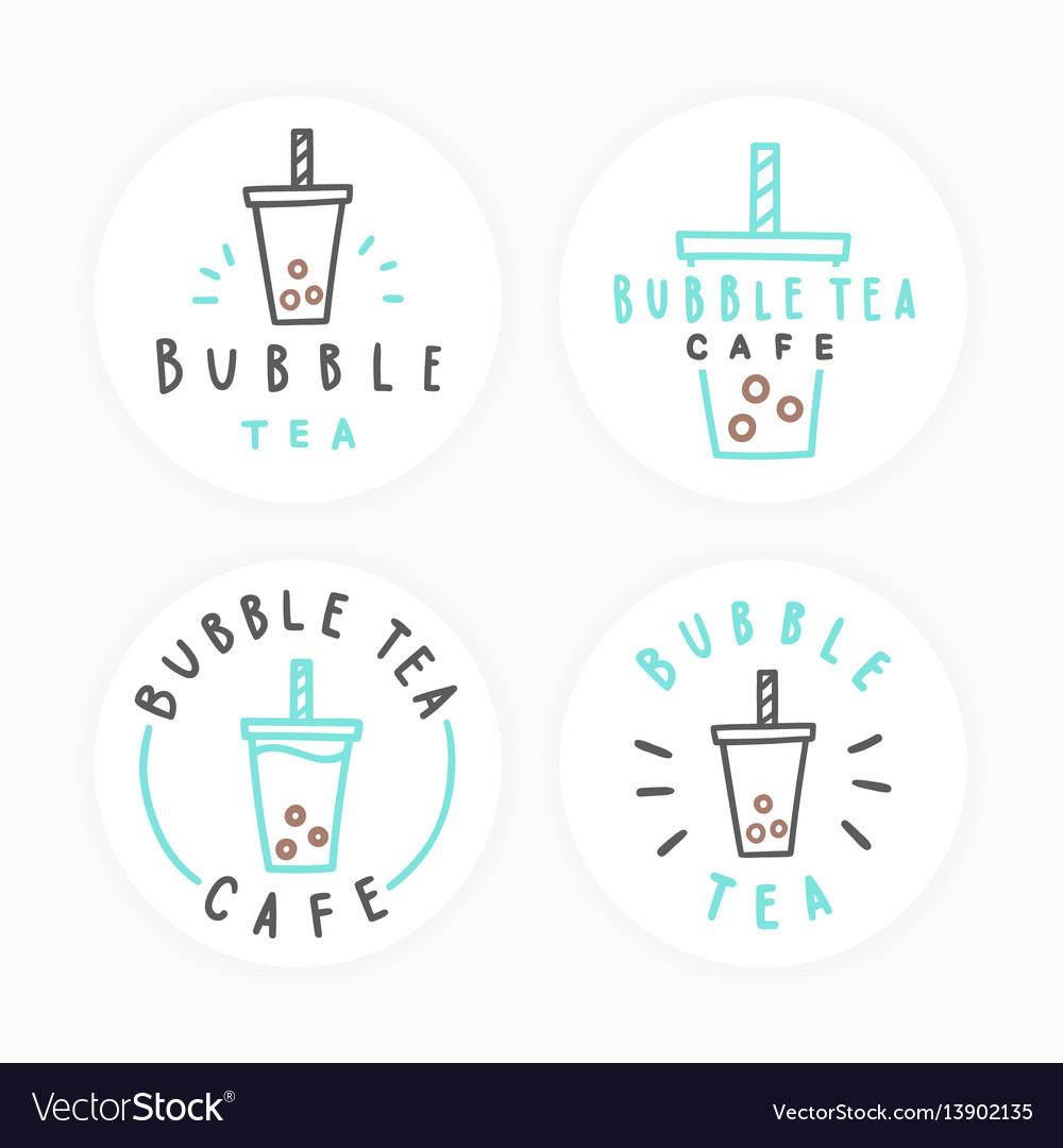 Set bubble tea badges
