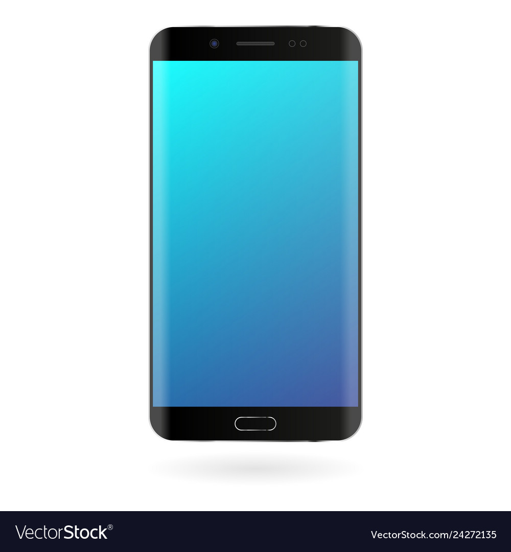 Smartphone mockup with blue gradient screen