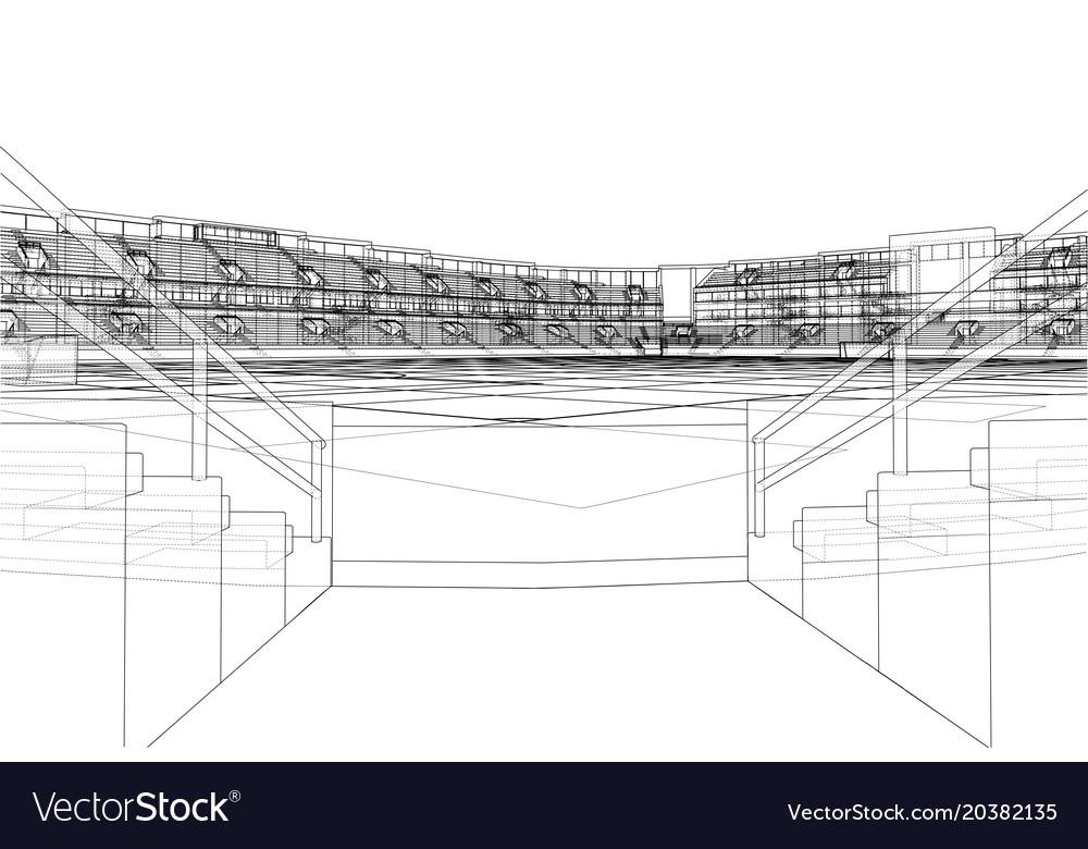 Soccer stadium or football arena concept