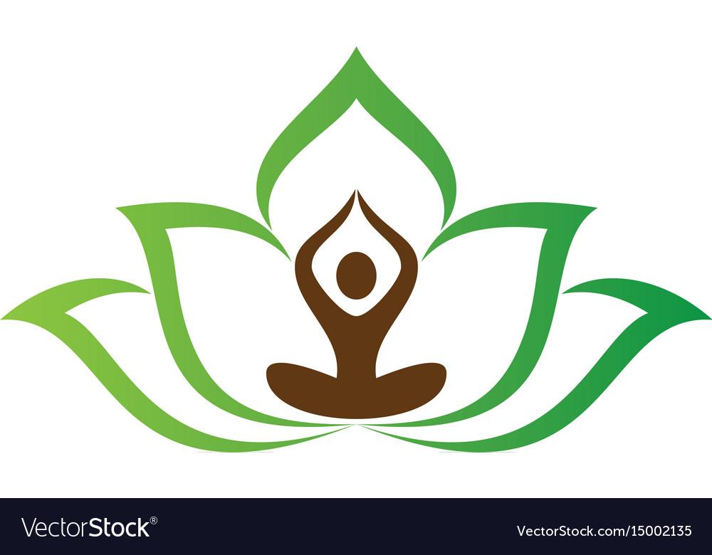 yoga meditation logo image royalty free vector image