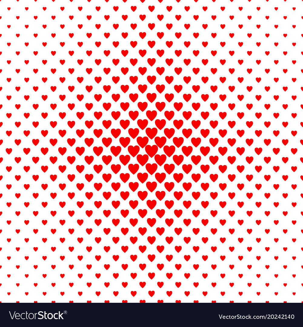 Abstract halftone heart background pattern - love