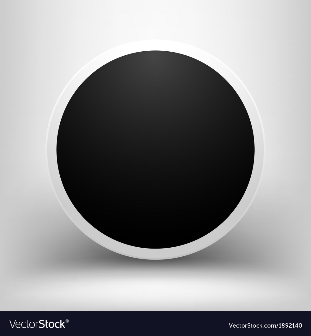 Black empty sphere with shadow