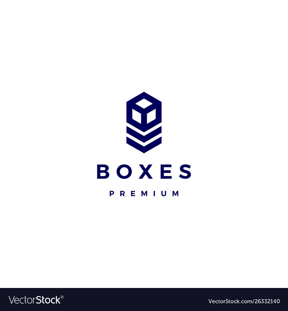 Box cube logo icon