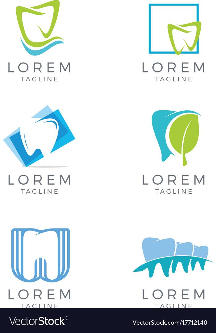 Dental logo set