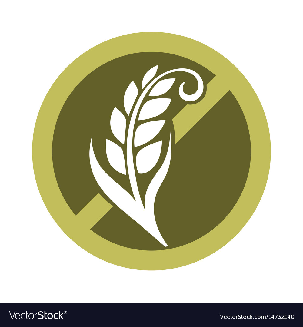 Gluten free substance in cereal grains logo in