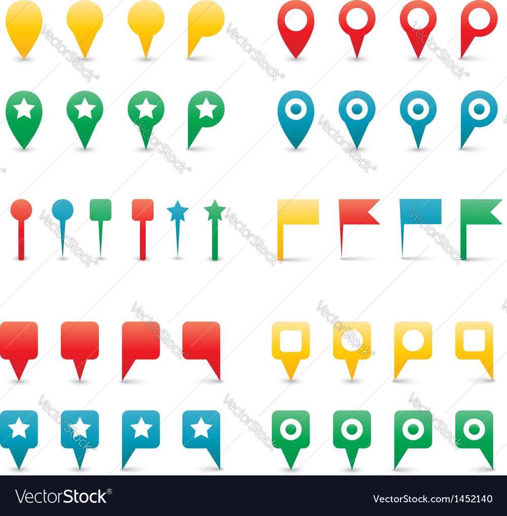 Map pins gradient