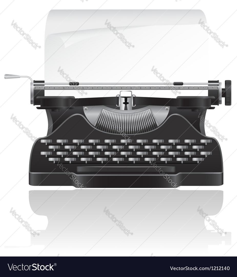 Old typewriter 02 vector image