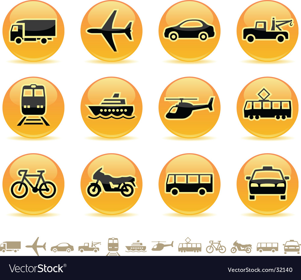 Transport icons buttons