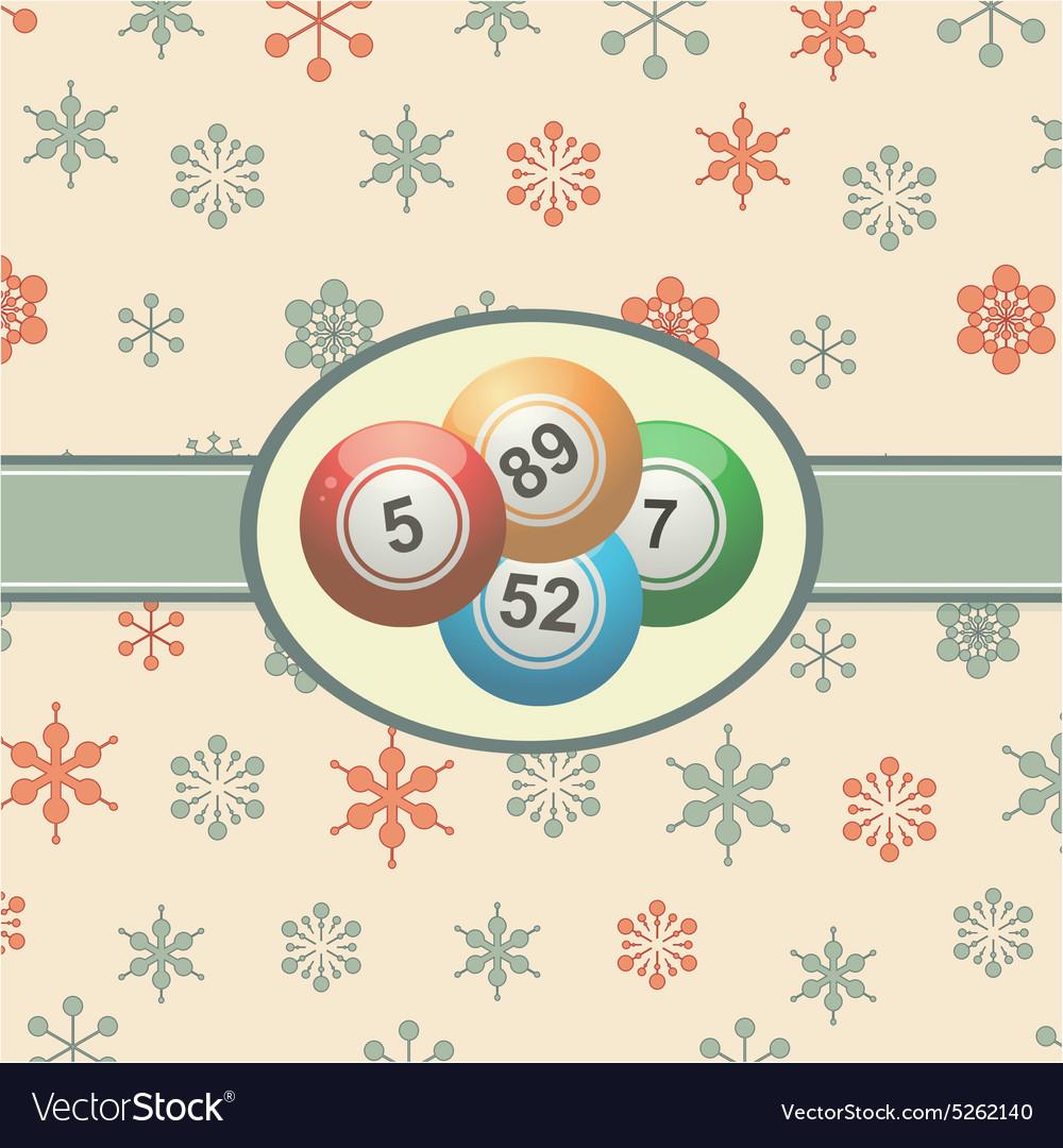 Vintage Christmas background with bingo balls