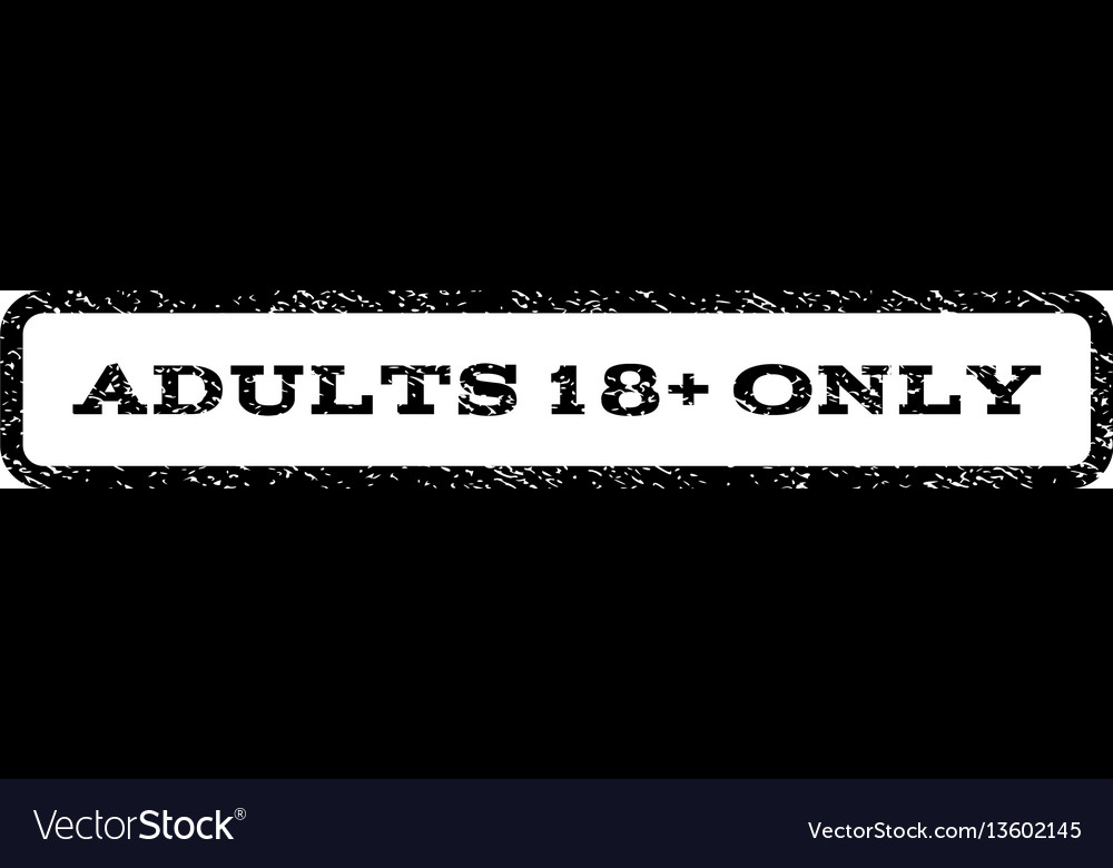 Adults 18 plus only watermark stamp vector image
