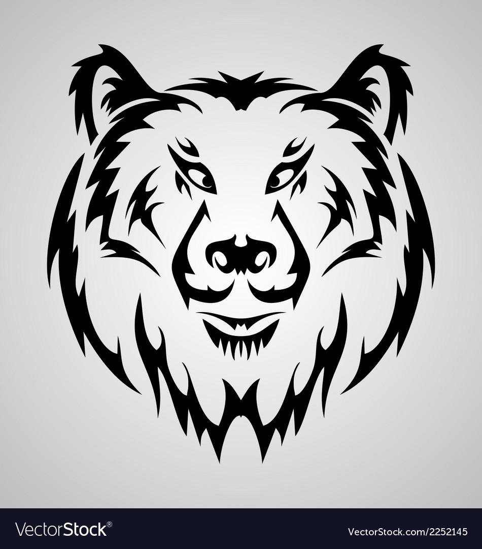 Bear Face Tattoo