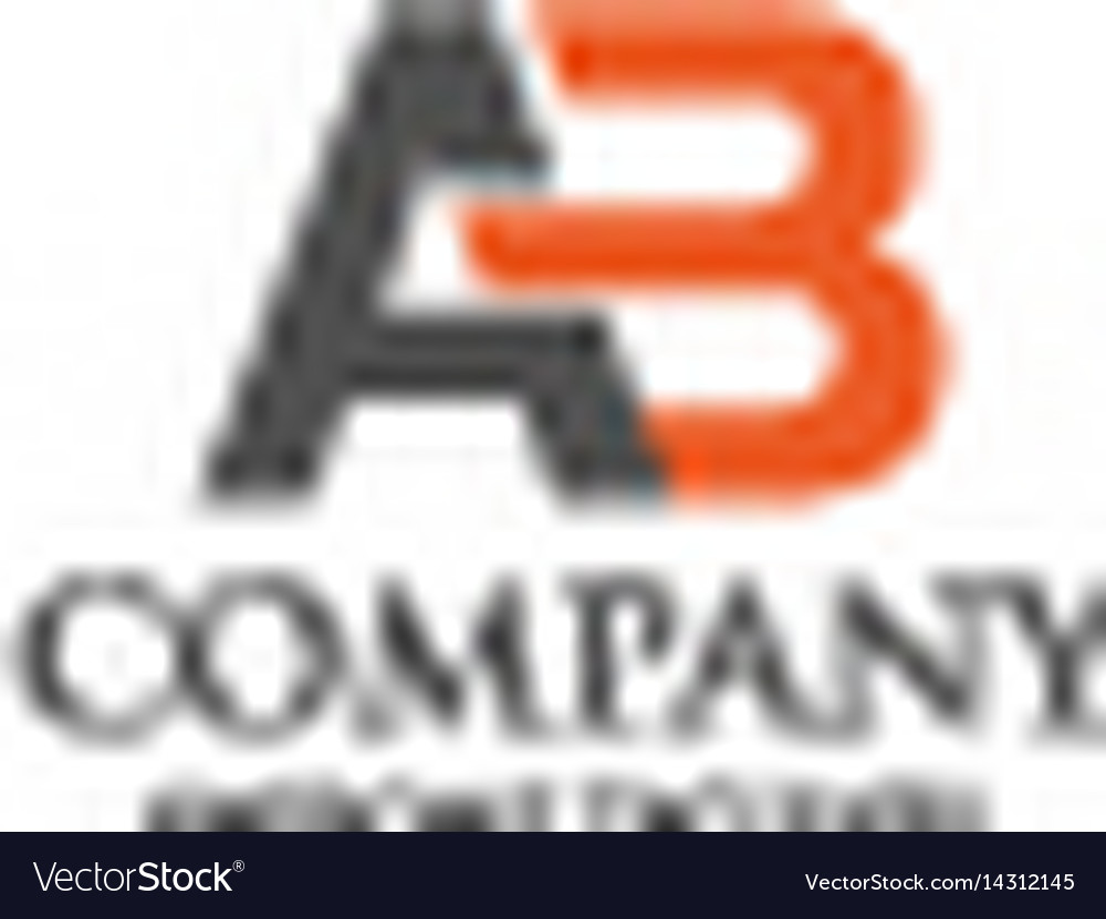 Creative letter ab logo vector image