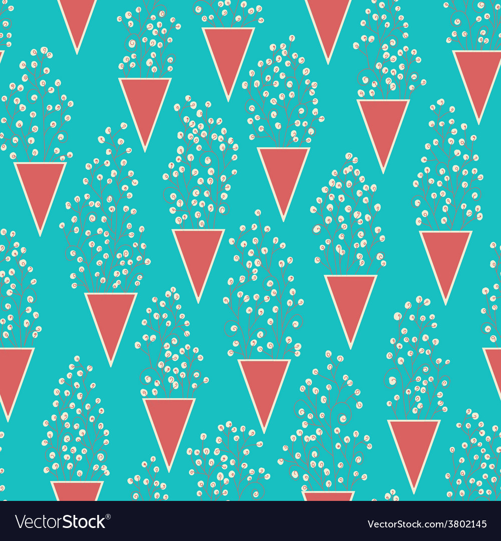 Cute seamless pattern with many small twigs