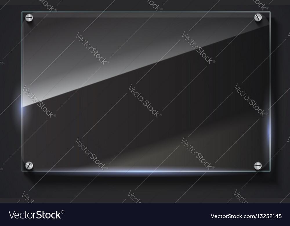 Elegant glass banner background