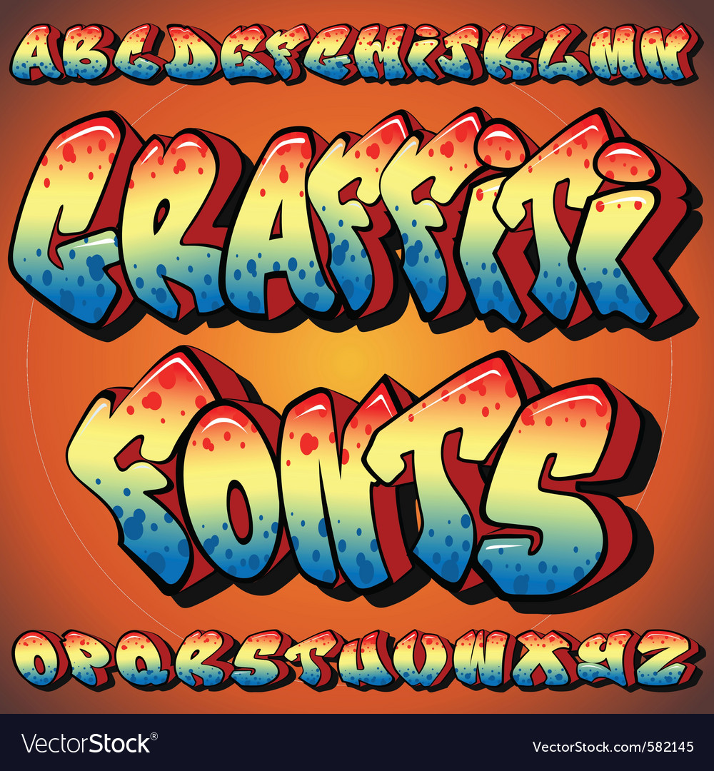 Graffiti fonts vector image