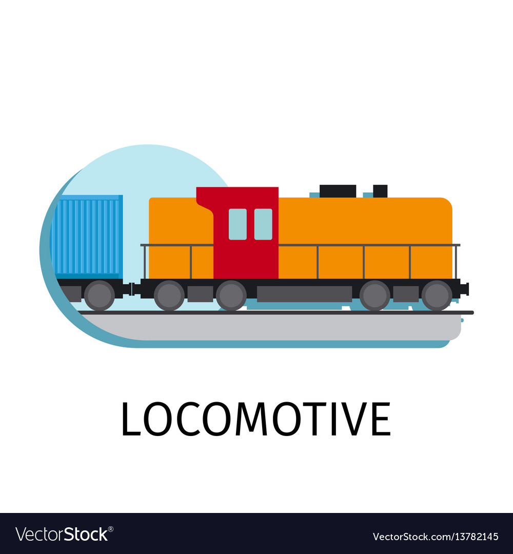 Locomotive in flat style