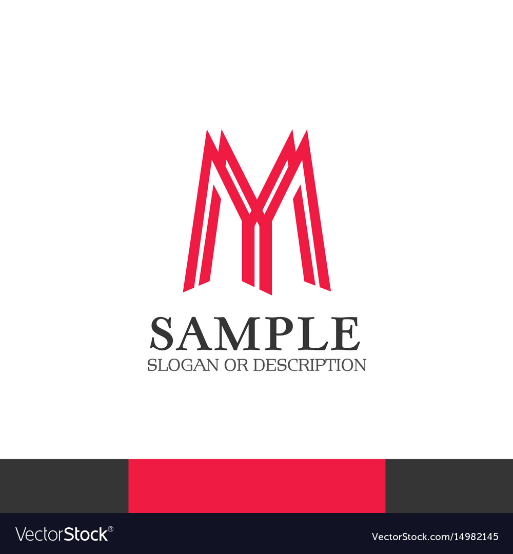 Modern bussines emblem of creative company vector image