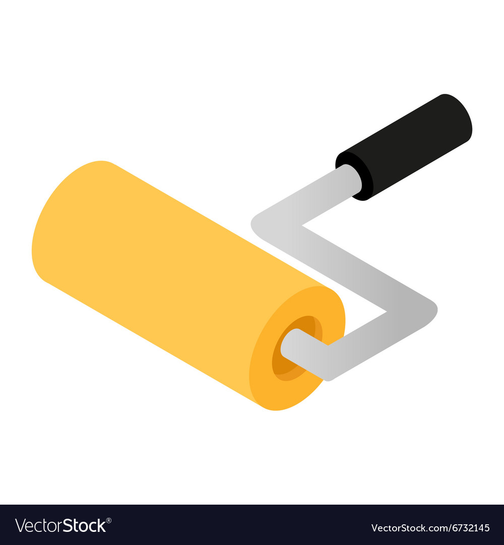 Paint roller isometric 3d icon