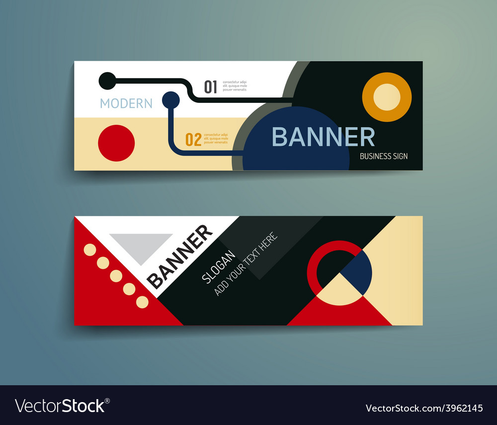 Set of banner template designgraphic or website