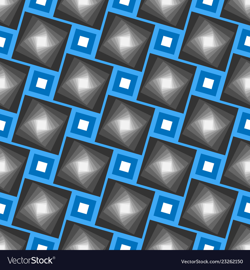 Abstract seamless geometrical pattern blue