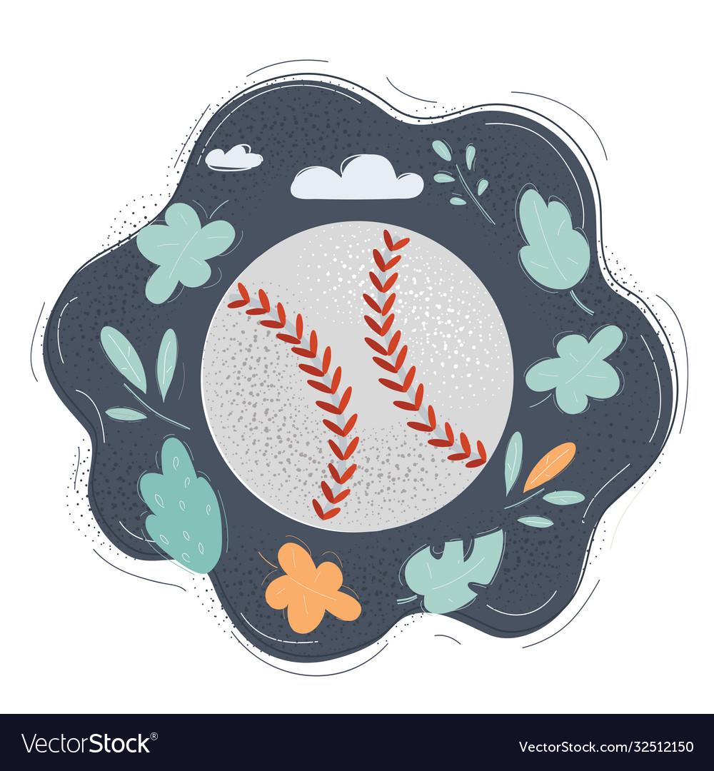 Baseball ball isolated on