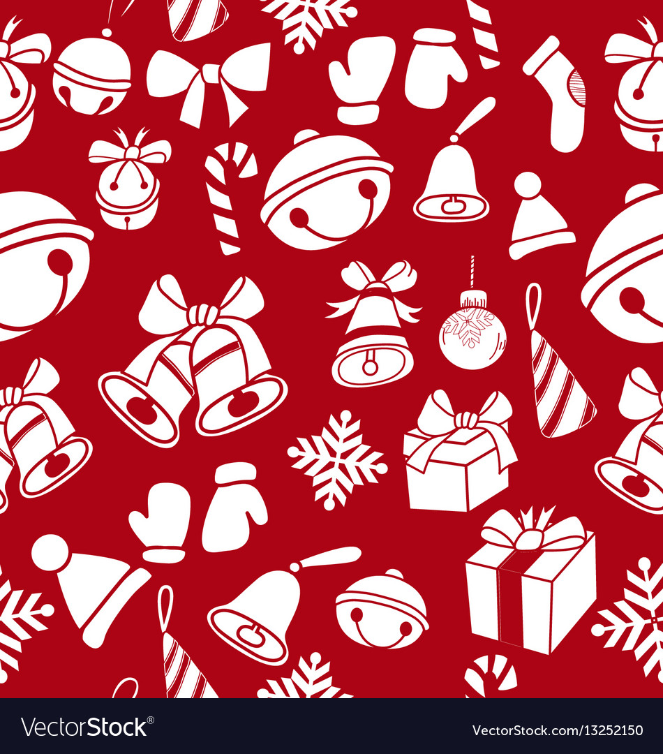 Doodle christmas element pattern