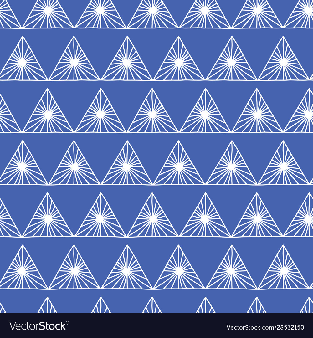Geometric seamless pattern in tribal style in blue vector