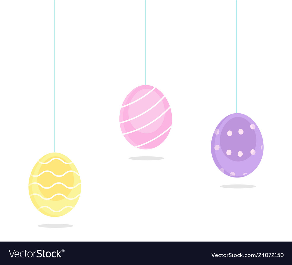 Happy easter colorful eggs
