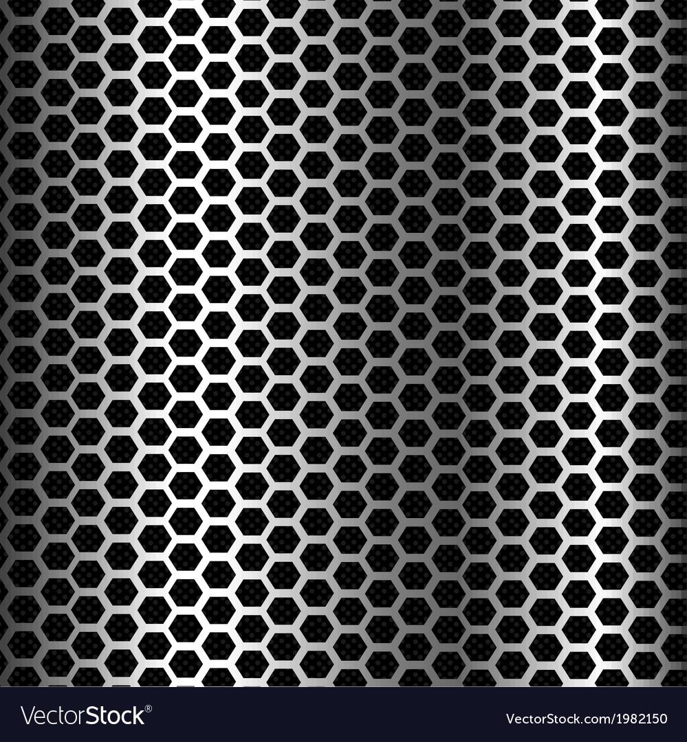 Hexagon metal background texture vector image