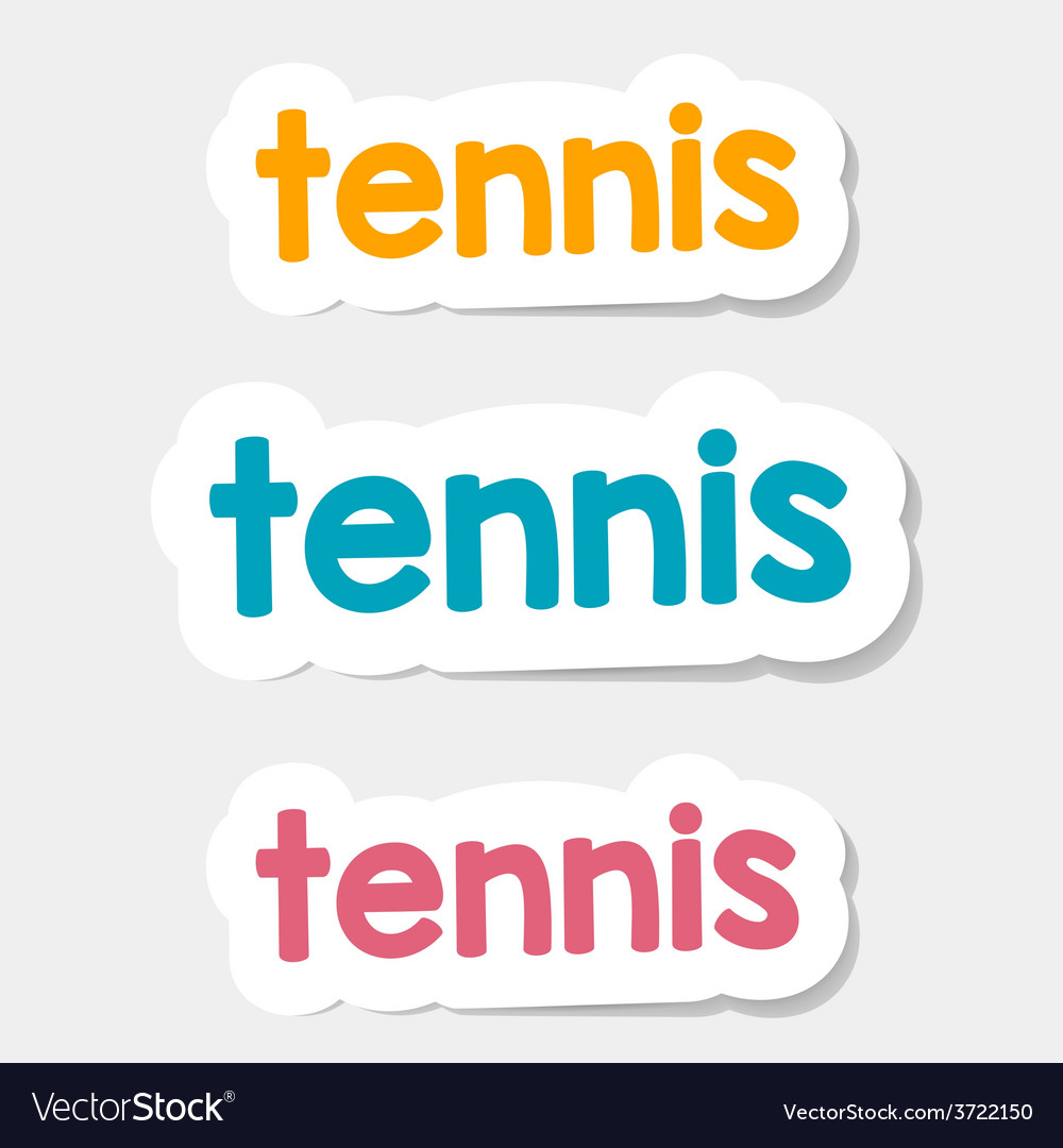 Logo Tennis on a light background