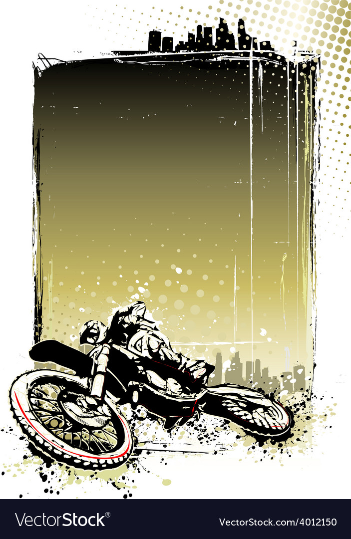 Motocross poster vector image