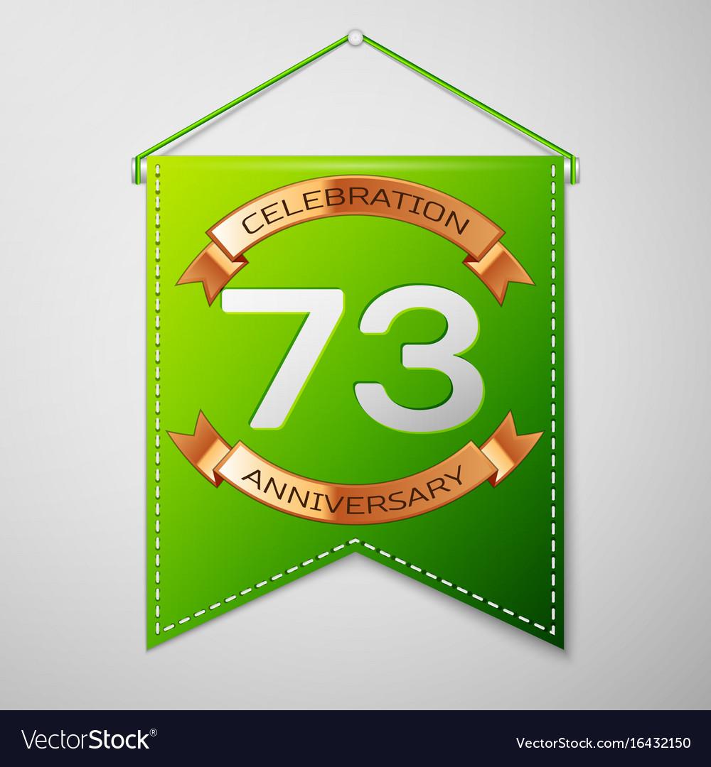 Seventy three years anniversary celebration design