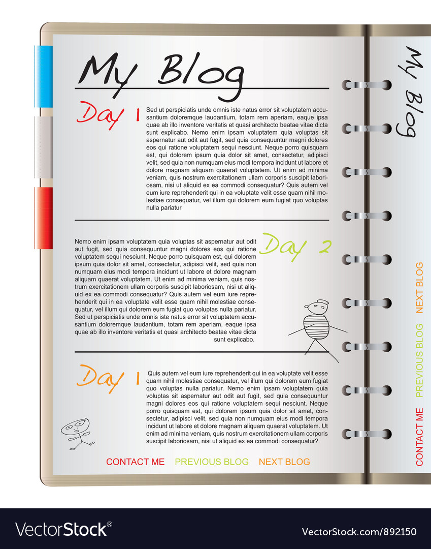 Web blog page vector image