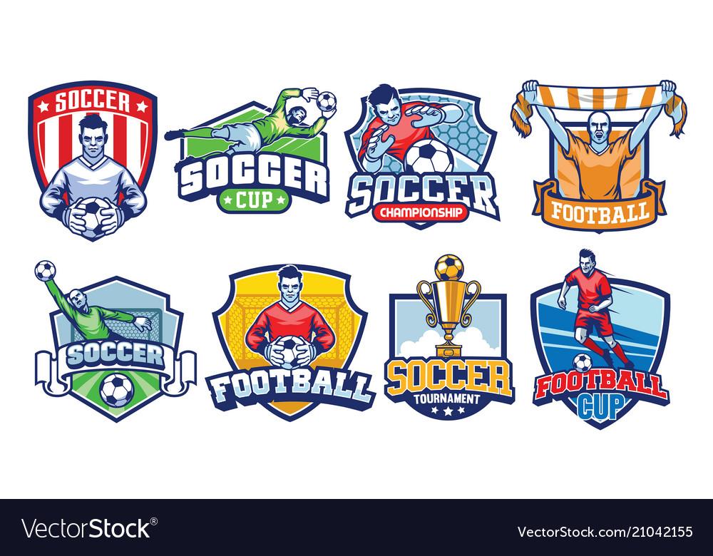 Soccer badges design set