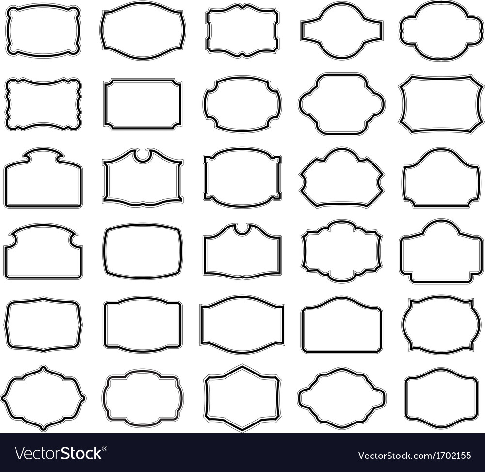 Thirty blank labels